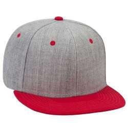 Röd/gråmelerad snapback-keps, OTTO