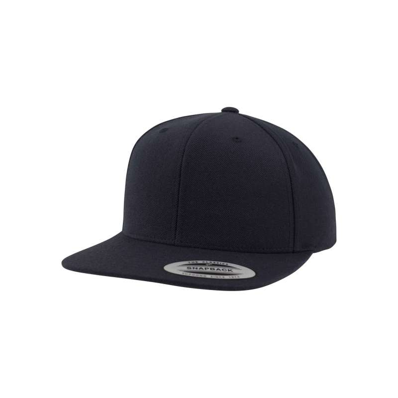 Snapback-keps, svart Yupoong