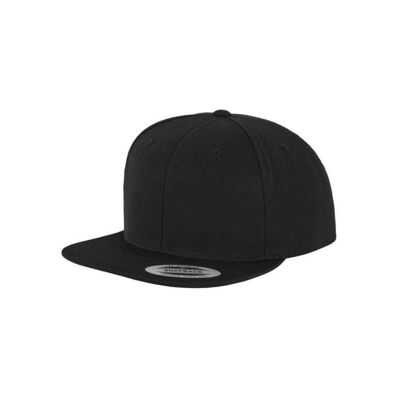 Snapback-keps, svart/svart Yupoong